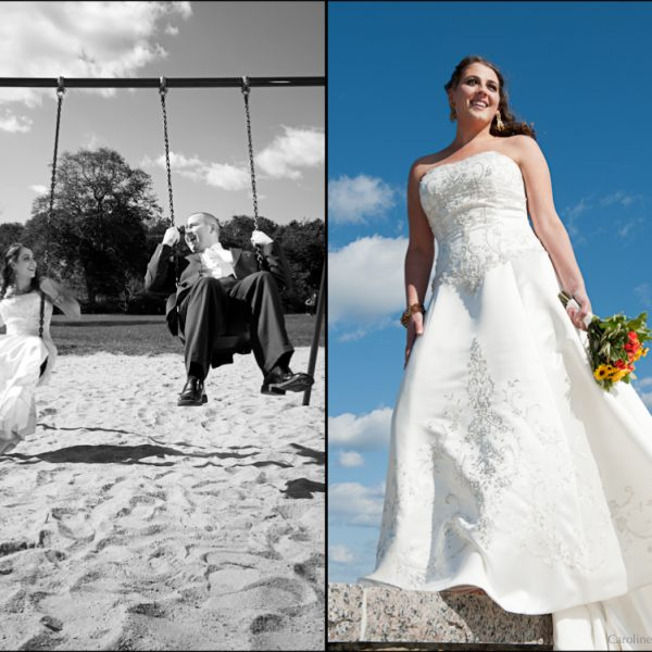 Rocking her wedding dress, again! | Cape Cod Wedding Photographer