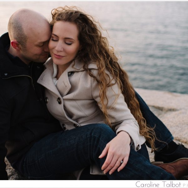 J & B: Engaged! | A Rockport Engagement Session