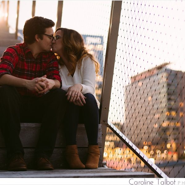 Alisha & Billy: Engaged! | A Boston Seaport Engagement Session